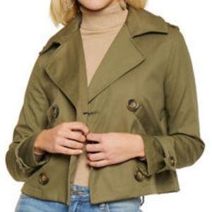 Jackets & Blazers - ⚡Weekend Sale⚡ Crop Trench Coat